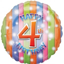 HAPPY 4TH BIRTHDAY STANDARD HS40 PKT