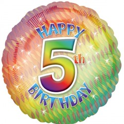 HAPPY 5TH BIRTHDAY STANDARD S40 PKT