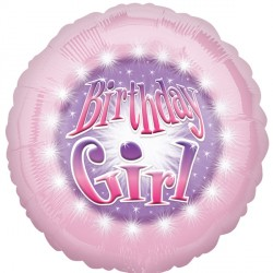 "BIRTHDAY GIRL PINK 18"" SALE"