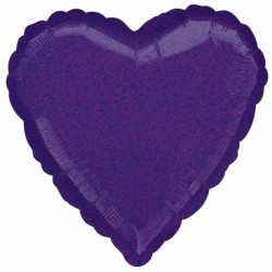 PURPLE DAZZLER HEART STANDARD S40 FLAT A
