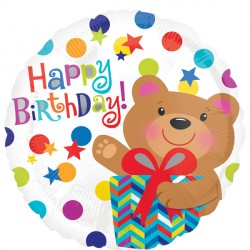 BEAR GIFT HAPPY BIRTHDAY STANDARD S40 PKT