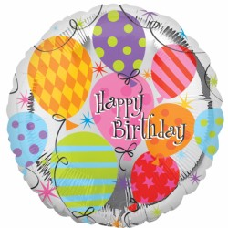 BALLOON BIRTHDAY STANDARD S40 PKT