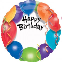 HAPPY BIRTHDAY BALLOON PERSONALISED STANDARD S40 PKT
