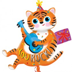 YOU ROCK TIGER BIRTHDAY SHAPE P35 PKT