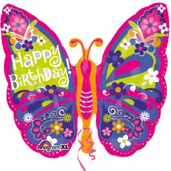 HAPPY BIRTHDAY BEAUTIFUL BUTTERFLY SHAPE P35 PKT