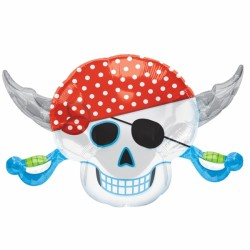 PIRATE PARTY SKULL SHAPE P35 PKT