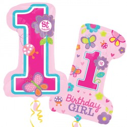 SWEET 1ST BIRTHDAY GIRL SHAPE P35 PKT