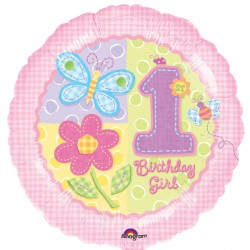 HUGS & STITCHES 1ST BIRTHDAY GIRL STANDARD S40 PKT SALE