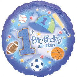 FIRST BIRTHDAY ALL-STAR STANDARD S40 PKT