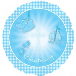 CHRISTENING BOOTIES BLUE STANDARD S40 PKT