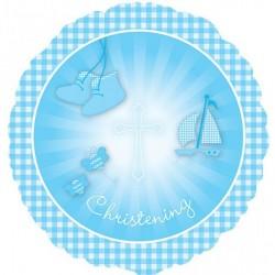 CHRISTENING BOOTIES BLUE STANDARD S40 PKT