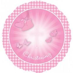CHRISTENING BOOTIES PINK STANDARD S40 PKT