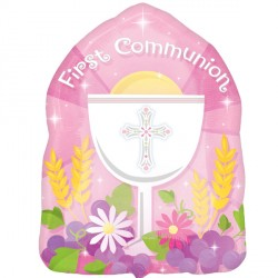 1ST COMMUNION PINK JUNIOR SHAPE S40 PKT