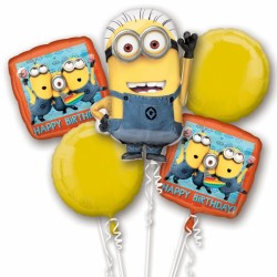 MINIONS 5 BALLOON BOUQUET P75 PKT (3CT)
