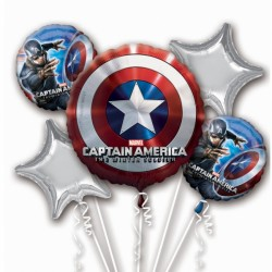 CAPTAIN AMERICA WINTER SOLDIER 5 BALLOON BOUQUET P75 PKT (3CT)