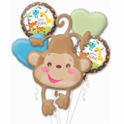 FISHER PRICE WELCOME BABY 5 BALLOON BOUQUET P75 PKT (3CT)