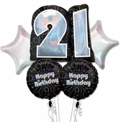 A TIME TO PARTY 21 5 BALLOON BOUQUET P75 PKT (3CT)