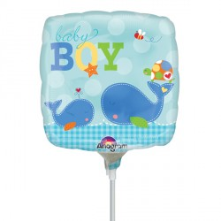 "AHOY BABY BOY 9"" A15 INFLATED WITH CUP & STICK"