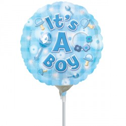 "NEW BABY BOY 9"" A15 INFLATED WITH CUP & STICK"
