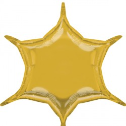 GOLD 6 POINT STAR D32 FLAT (3CT)