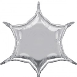 SILVER 6 POINT STAR D32 FLAT (3CT)