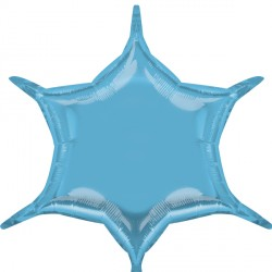PASTEL BLUE 6 POINT STAR D32 FLAT (3CT)