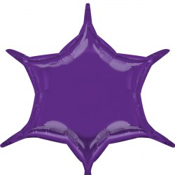 PURPLE 6 POINT STAR D32 FLAT (3CT)