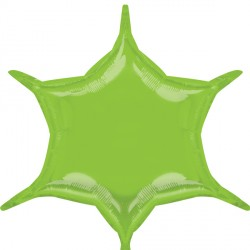 LIME GREEN 6 POINT STAR D32 FLAT (3CT)