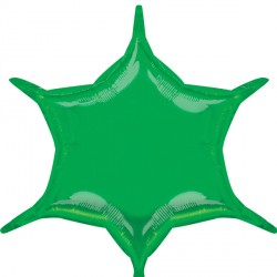 GREEN 6 POINT STAR D32 FLAT (3CT)