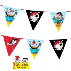 RACHEL ELLEN PIRATE BUNTING 1 CT X 6 PACKS