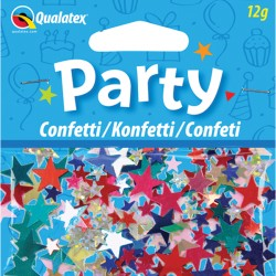 MULTI-COLOURED STARS CONFETTI 12G 1CT X 6 PACKS