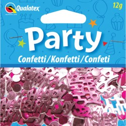 HAPPY BIRTHDAY PINK CONFETTI 12G 1CT X 6 PACKS