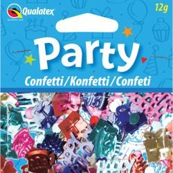 HAPPY BIRTHDAY MULTI-COLOURED CONFETTI 12G (1CT X 6 PACKS)