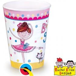 RACHEL ELLEN BALLERINA PAPER CUPS 8CT X 6 PACKS
