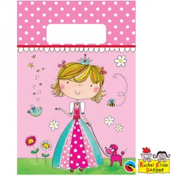 RACHEL ELLEN PRINCESS PARTY BAGS 8CT X 6 PACKS