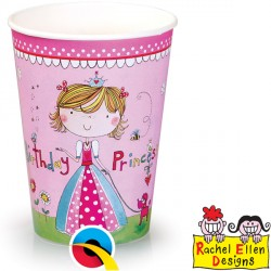 RACHEL ELLEN PRINCESS PAPER CUPS 8CT X 6 PACKS