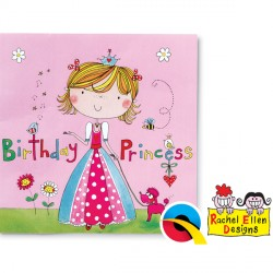 RACHEL ELLEN PRINCESS NAPKINS 20CT X 6 PACKS
