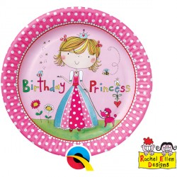 RACHEL ELLEN PRINCESS PAPER PLATES 8CT X 6 PACKS