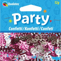 PARTY SWIRLS PINK & SILVER CONFETTI 12G (1CT X 6 PACKS)