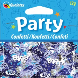 PARTY SWIRLS BLUE & SILVER CONFETTI 12G (1CT X 6 PACKS)