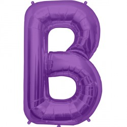 "PURPLE LETTER B SHAPE 34"" PKT"
