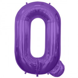 "PURPLE LETTER Q SHAPE 34"" PKT"