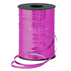 FUCHSIA 5MM METALLIC RIBBON 500M