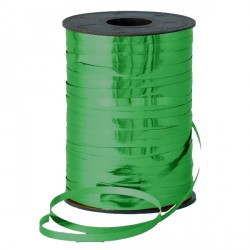 GREEN 5MM METALLIC RIBBON 500M