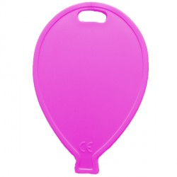 FUCHSIA BALLOON SHAPE PLASTIC WEIGHT 100CT (BULK 10 BAGS)