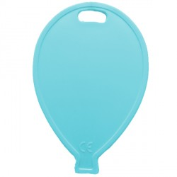 LIGHT BLUE BALLOON SHAPE PLASTIC WEIGHT 100CT (BULK 10 BAGS)