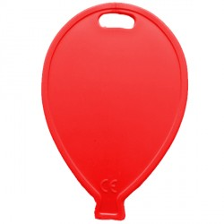RED BALLOON SHAPE PLASTIC WEIGHT 100CT (BULK 10 BAGS)
