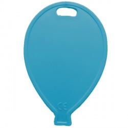 TURQUOISE BALLOON SHAPE PLASTIC WEIGHT 100CT (BULK 10 BAGS)