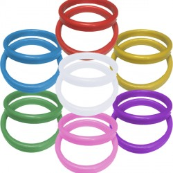 19g ASSORTED PLASTIC BANGLE WEIGHT 100CT