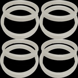 19g WHITE PLASTIC BANGLE WEIGHT 100CT (BULK 10 BAGS)